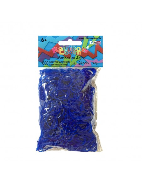 Rainbow Loom Gummibänder Marineblau Jelly