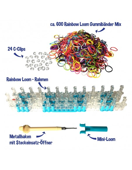 Inhalt vom Original Rainbow Loom Starter-Set