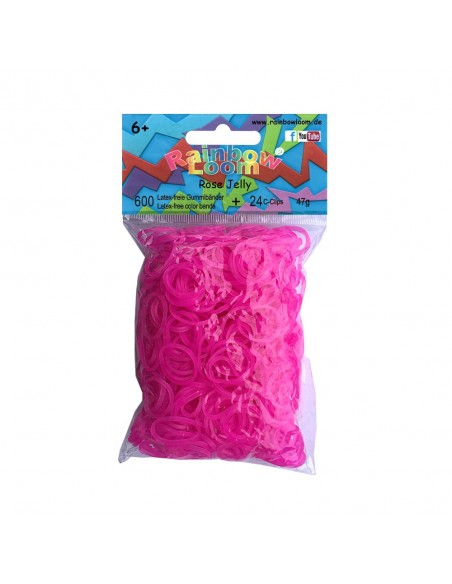 Original Rainbow Loom Gummibänder Rose Jelly